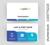 reunion  business card design... | Shutterstock .eps vector #1103776223