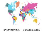color world map vector | Shutterstock .eps vector #1103813387