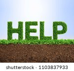 grass growing in the shape of... | Shutterstock . vector #1103837933