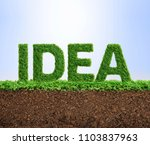 grass growing in the shape of... | Shutterstock . vector #1103837963