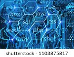 programming language and... | Shutterstock . vector #1103875817