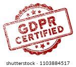 gdpr certified rubber stamp... | Shutterstock .eps vector #1103884517
