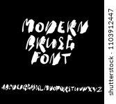 grunge distress font. modern...   Shutterstock .eps vector #1103912447