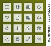 interface icons line style set...   Shutterstock .eps vector #1103922263