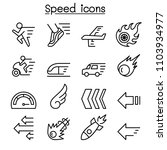 speed icon set in thin line... | Shutterstock .eps vector #1103934977