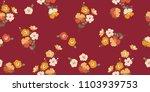 seamless floral pattern.... | Shutterstock .eps vector #1103939753