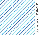 blue  navy diagonal wavy marine ... | Shutterstock .eps vector #1103940653
