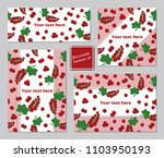 red currants pattern a5...   Shutterstock .eps vector #1103950193