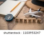 tourism planning and equipment  ... | Shutterstock . vector #1103953247