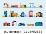 set of city buildings. bank ... | Shutterstock . vector #1103953583