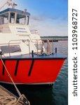 poole harbour  dorset  england  ...   Shutterstock . vector #1103968727