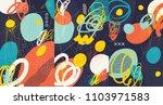 creative doodle art header with ... | Shutterstock .eps vector #1103971583
