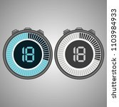 electronic digital stopwatch.... | Shutterstock .eps vector #1103984933