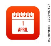 calendar april 1 icon digital... | Shutterstock . vector #1103987627