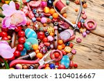 beads  colorful beads for... | Shutterstock . vector #1104016667