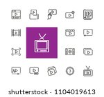 video content icons. set of ... | Shutterstock .eps vector #1104019613
