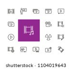 movie icons. set of  line icons.... | Shutterstock .eps vector #1104019643