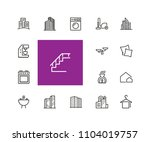 houses and tools icons.... | Shutterstock .eps vector #1104019757
