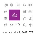 cooking icons. set of  line...   Shutterstock .eps vector #1104021377