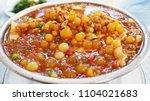 rew gew spicy soup or salmon... | Shutterstock . vector #1104021683