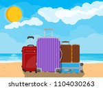 modern and vintage travel bag... | Shutterstock . vector #1104030263
