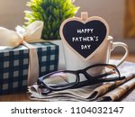 happy fathers day concept.... | Shutterstock . vector #1104032147