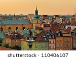 warsaw old town square | Shutterstock . vector #110406107