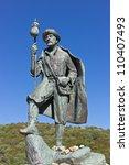 monument to pilgrims on the...   Shutterstock . vector #110407493