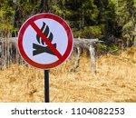 sign ban bonfires on the...   Shutterstock . vector #1104082253