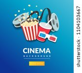 movie film banner design... | Shutterstock .eps vector #1104103667