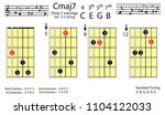guitar chords.c major7 drop2...   Shutterstock .eps vector #1104122033