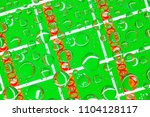 flags  of turkmenistan  behind... | Shutterstock . vector #1104128117