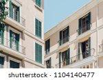 mediterranean city house facade ... | Shutterstock . vector #1104140477