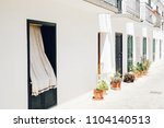 white house summer street city | Shutterstock . vector #1104140513