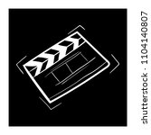 contour clapper board video... | Shutterstock .eps vector #1104140807