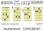 guitar chords.c minor7 drop2...   Shutterstock .eps vector #1104168167