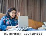 senior woman or indian senior...   Shutterstock . vector #1104184913