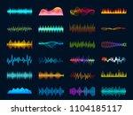 audio waveform signals  wave... | Shutterstock .eps vector #1104185117