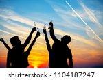 young adult summer beach party... | Shutterstock . vector #1104187247
