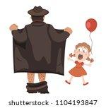 exhibitionist opened his coat... | Shutterstock .eps vector #1104193847