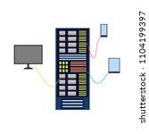 modern computer server rack at...   Shutterstock .eps vector #1104199397