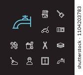housekeeping icons set....