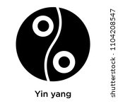 yin yang icon vector isolated... | Shutterstock .eps vector #1104208547