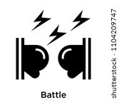 battle icon vector isolated on... | Shutterstock .eps vector #1104209747