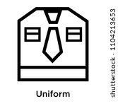 uniform icon vector isolated on ...