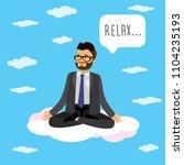 caucasian office worker or... | Shutterstock .eps vector #1104235193