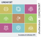 hr icon set and collaboration...
