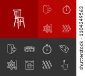 universal icons set with logout ...