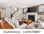 living room interior in new... | Shutterstock . vector #1104270887