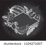 background with ink hand drawn... | Shutterstock .eps vector #1104271007